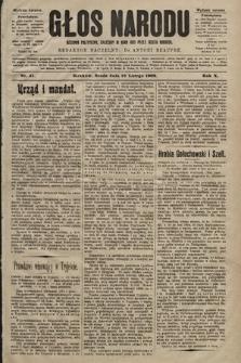 Głos Narodu : dziennik polityczny, założony w roku 1893 przez Józefa Rogosza (wydanie poranne). 1902, nr41