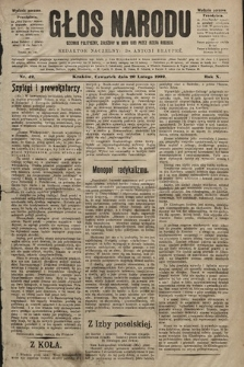 Głos Narodu : dziennik polityczny, założony w roku 1893 przez Józefa Rogosza (wydanie poranne). 1902, nr42