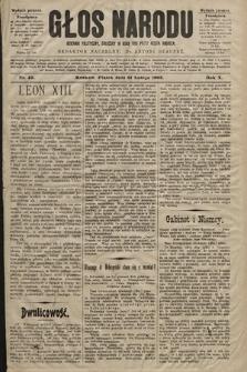 Głos Narodu : dziennik polityczny, założony w roku 1893 przez Józefa Rogosza (wydanie poranne). 1902, nr43