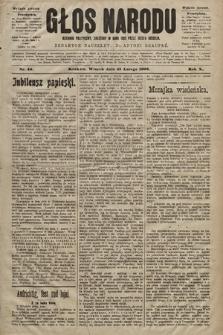 Głos Narodu : dziennik polityczny, założony w roku 1893 przez Józefa Rogosza (wydanie poranne). 1902, nr46