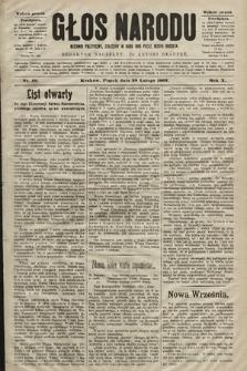 Głos Narodu : dziennik polityczny, założony w roku 1893 przez Józefa Rogosza (wydanie poranne). 1902, nr49