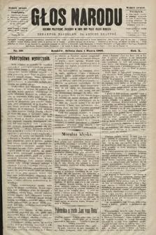 Głos Narodu : dziennik polityczny, założony w roku 1893 przez Józefa Rogosza (wydanie poranne). 1902, nr50