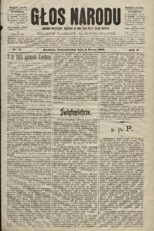 Głos Narodu : dziennik polityczny, założony w roku 1893 przez Józefa Rogosza (wydanie poranne). 1902, nr51