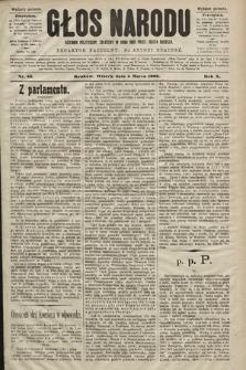 Głos Narodu : dziennik polityczny, założony w roku 1893 przez Józefa Rogosza (wydanie poranne). 1902, nr52
