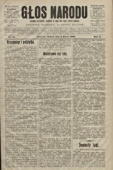 Głos Narodu : dziennik polityczny, założony w roku 1893 przez Józefa Rogosza (wydanie poranne). 1902, nr56