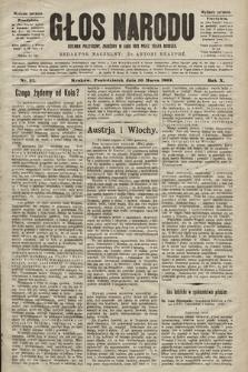 Głos Narodu : dziennik polityczny, założony w roku 1893 przez Józefa Rogosza (wydanie poranne). 1902, nr57
