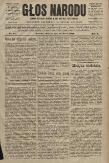 Głos Narodu : dziennik polityczny, założony w roku 1893 przez Józefa Rogosza (wydanie poranne). 1902, nr64