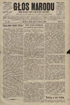 Głos Narodu : dziennik polityczny, założony w roku 1893 przez Józefa Rogosza (wydanie poranne). 1902, nr65