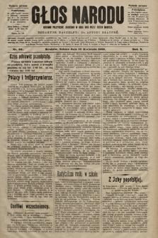 Głos Narodu : dziennik polityczny, założony w roku 1893 przez Józefa Rogosza (wydanie poranne). 1902, nr96