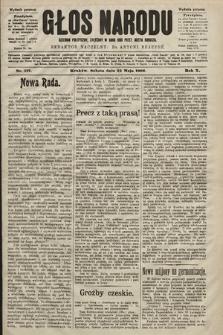 Głos Narodu : dziennik polityczny, założony w roku 1893 przez Józefa Rogosza (wydanie poranne). 1902, nr117