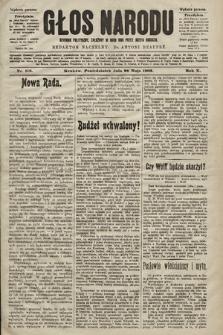 Głos Narodu : dziennik polityczny, założony w roku 1893 przez Józefa Rogosza (wydanie poranne). 1902, nr118