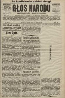 Głos Narodu : dziennik polityczny, założony w roku 1893 przez Józefa Rogosza (wydanie poranne). 1902, nr120 (po konfiskacie nakład drugi)