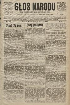 Głos Narodu : dziennik polityczny, założony w roku 1893 przez Józefa Rogosza (wydanie poranne). 1902, nr140