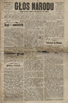 Głos Narodu : dziennik polityczny, założony w roku 1893 przez Józefa Rogosza (wydanie wieczorne). 1902, nr9