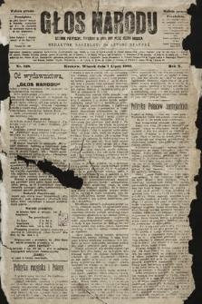 Głos Narodu : dziennik polityczny, założony w roku 1893 przez Józefa Rogosza (wydanie poranne). 1902, nr148