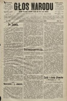 Głos Narodu : dziennik polityczny, założony w roku 1893 przez Józefa Rogosza (wydanie poranne). 1902, nr165