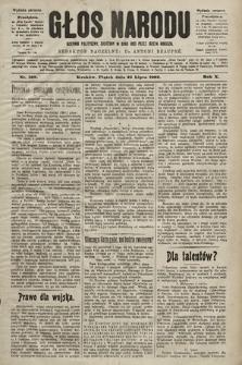 Głos Narodu : dziennik polityczny, założony w roku 1893 przez Józefa Rogosza (wydanie poranne). 1902, nr169