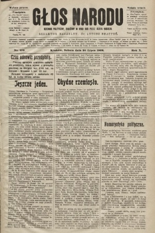 Głos Narodu : dziennik polityczny, założony w roku 1893 przez Józefa Rogosza (wydanie poranne). 1902, nr170