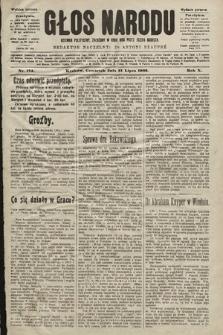 Głos Narodu : dziennik polityczny, założony w roku 1893 przez Józefa Rogosza (wydanie poranne). 1902, nr174