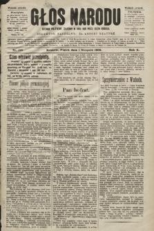 Głos Narodu : dziennik polityczny, założony w roku 1893 przez Józefa Rogosza (wydanie poranne). 1902, nr175