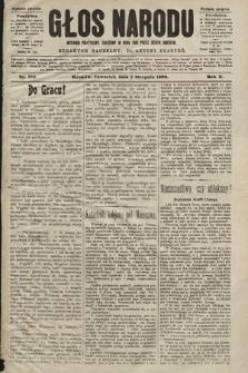 Głos Narodu : dziennik polityczny, założony w roku 1893 przez Józefa Rogosza (wydanie poranne). 1902, nr180