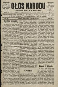 Głos Narodu : dziennik polityczny, założony w roku 1893 przez Józefa Rogosza (wydanie poranne). 1902, nr182