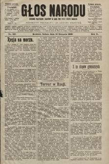Głos Narodu : dziennik polityczny, założony w roku 1893 przez Józefa Rogosza (wydanie poranne). 1902, nr187