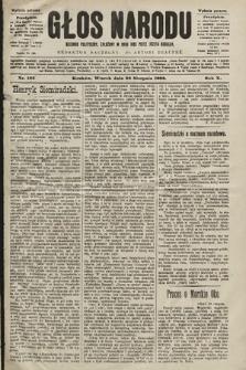 Głos Narodu : dziennik polityczny, założony w roku 1893 przez Józefa Rogosza (wydanie poranne). 1902, nr195