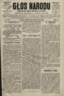 Głos Narodu : dziennik polityczny, założony w roku 1893 przez Józefa Rogosza (wydanie poranne). 1902, nr198