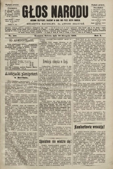 Głos Narodu : dziennik polityczny, założony w roku 1893 przez Józefa Rogosza (wydanie poranne). 1902, nr199