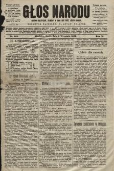 Głos Narodu : dziennik polityczny, założony w roku 1893 przez Józefa Rogosza (wydanie poranne). 1902, nr202