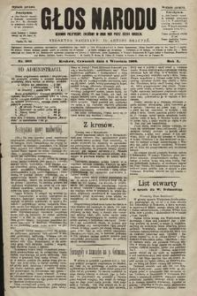 Głos Narodu : dziennik polityczny, założony w roku 1893 przez Józefa Rogosza (wydanie poranne). 1902, nr203