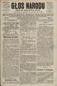 Głos Narodu : dziennik polityczny, założony w roku 1893 przez Józefa Rogosza (wydanie poranne). 1902, nr205