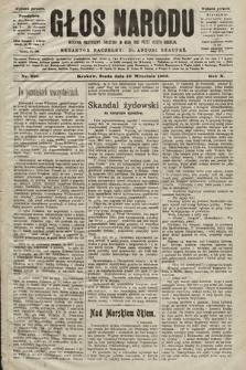 Głos Narodu : dziennik polityczny, założony w roku 1893 przez Józefa Rogosza (wydanie poranne). 1902, nr207
