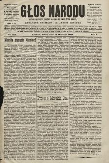 Głos Narodu : dziennik polityczny, założony w roku 1893 przez Józefa Rogosza (wydanie poranne). 1902, nr210