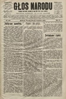 Głos Narodu : dziennik polityczny, założony w roku 1893 przez Józefa Rogosza (wydanie poranne). 1902, nr212