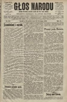 Głos Narodu : dziennik polityczny, założony w roku 1893 przez Józefa Rogosza (wydanie poranne). 1902, nr214