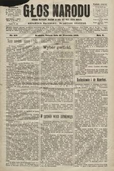 Głos Narodu : dziennik polityczny, założony w roku 1893 przez Józefa Rogosza (wydanie poranne). 1902, nr216