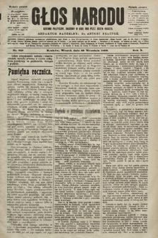 Głos Narodu : dziennik polityczny, założony w roku 1893 przez Józefa Rogosza (wydanie poranne). 1902, nr218