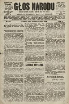 Głos Narodu : dziennik polityczny, założony w roku 1893 przez Józefa Rogosza (wydanie poranne). 1902, nr219
