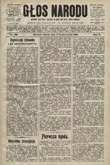 Głos Narodu : dziennik polityczny, założony w roku 1893 przez Józefa Rogosza (wydanie poranne). 1902, nr229