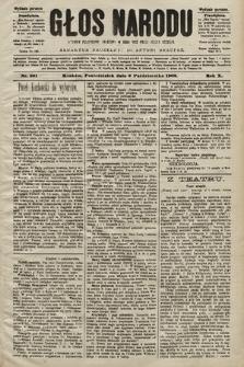 Głos Narodu : dziennik polityczny, założony w roku 1893 przez Józefa Rogosza (wydanie poranne). 1902, nr231