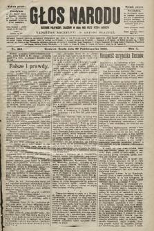 Głos Narodu : dziennik polityczny, założony w roku 1893 przez Józefa Rogosza (wydanie poranne). 1902, nr254