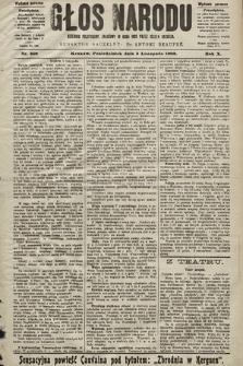 Głos Narodu : dziennik polityczny, założony w roku 1893 przez Józefa Rogosza (wydanie poranne). 1902, nr258