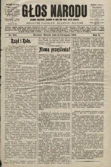 Głos Narodu : dziennik polityczny, założony w roku 1893 przez Józefa Rogosza (wydanie poranne). 1902, nr266