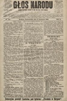 Głos Narodu : dziennik polityczny, założony w roku 1893 przez Józefa Rogosza (wydanie poranne). 1902, nr272