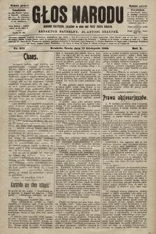 Głos Narodu : dziennik polityczny, założony w roku 1893 przez Józefa Rogosza (wydanie poranne). 1902, nr274