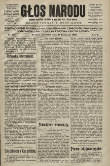 Głos Narodu : dziennik polityczny, założony w roku 1893 przez Józefa Rogosza (wydanie poranne). 1902, nr275