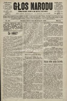 Głos Narodu : dziennik polityczny, założony w roku 1893 przez Józefa Rogosza (wydanie poranne). 1902, nr277