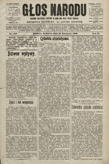 Głos Narodu : dziennik polityczny, założony w roku 1893 przez Józefa Rogosza (wydanie poranne). 1902, nr278